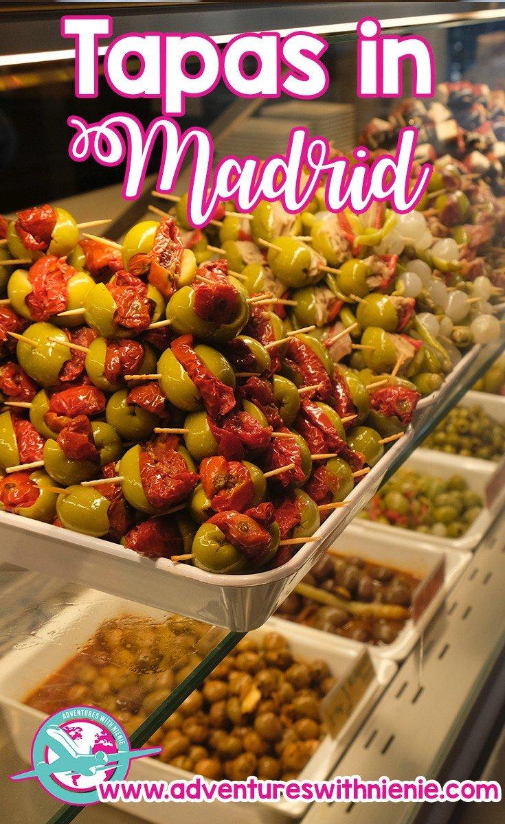 Tapas in Madrid Pinterest Cover